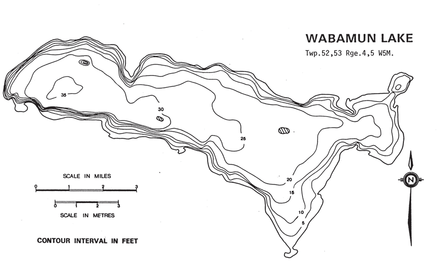 wabamun lake contour map